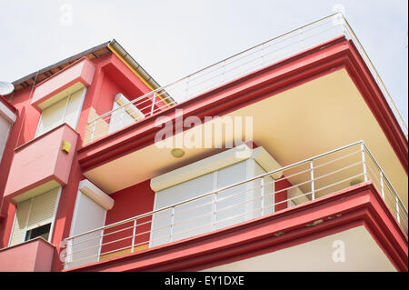 Part of a modern apartment building in Turkey - Stock Image