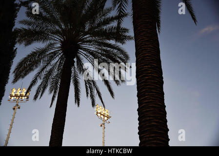 Indian Wells, California, USA. 12th March 2017. Scenes around Stadium court during the BNP Paribas Open at Indian - Stock Image