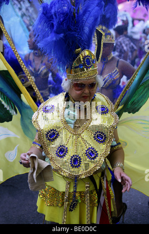 Woman in the Notting Hill Carnival Parade 2009 - Stock Image