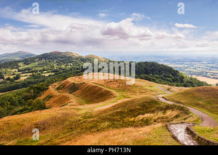 The Malvern Hills from British Camp, Herefordshire and Worcestershire, England - Stock Image