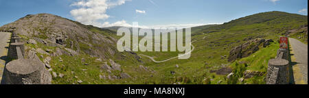 Tim Healy Pass Wide Panorama on Beara Peninsula, West Cork, Ireland - Stock Image
