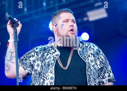 Rag 'n' Bone performing live on the Obelisk Stage at Latitude Festival 2018. - Stock Image