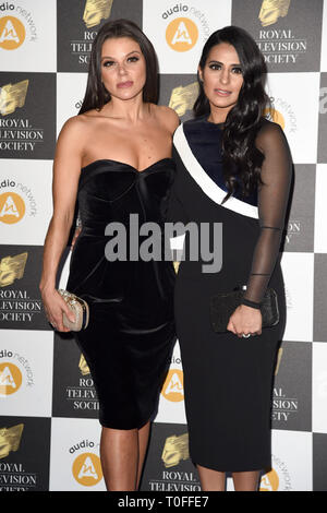 LONDON, UK. March 19, 2019: Faye Brookes & Saira Khan arriving for the Royal Television Society Awards 2019 at the Grosvenor House Hotel, London. Picture: Steve Vas/Featureflash Credit: Paul Smith/Alamy Live News - Stock Image