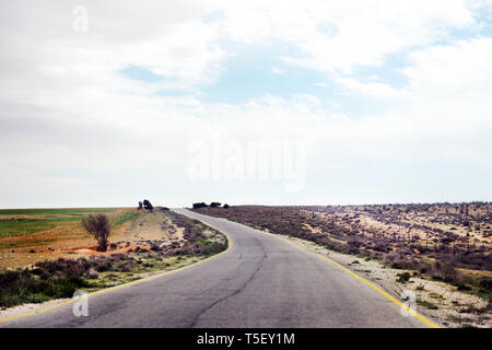 Traveling by car in Jordan. - Stock Image