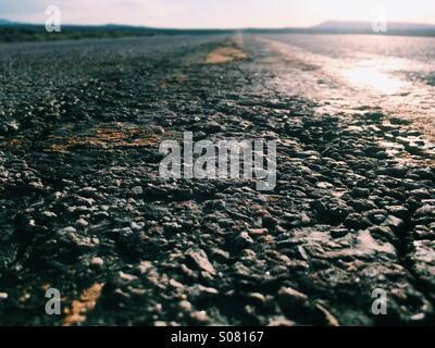 Long road ahead - Stock Image