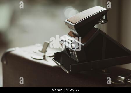 Vintage snapshot camera - Stock Image