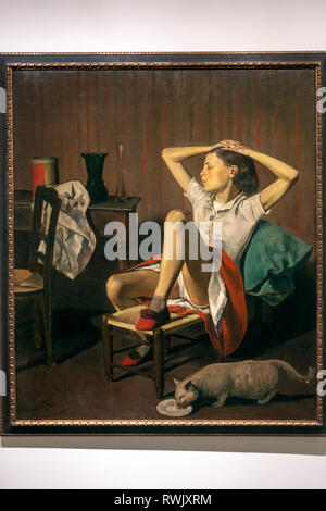 Thérèse Dreaming, Balthus (Balthasar Klossowski), The Metropolitan Museum of Art, Manhattan, New York USA - Stock Image