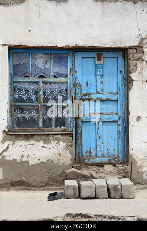 Door in Murghab, GBAO , T ajikistan - Stock Image