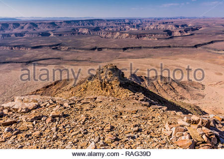 Taken in the Fish River Canyon area of Namibia at around 9 am.  The Fish River Canyon, is located in the south of Namibia. - Stock Image