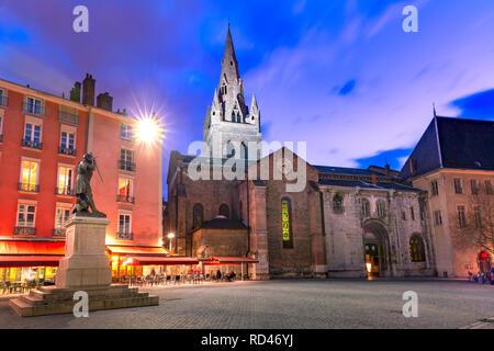 Saint Andrew square in Grenoble, France - Stock Image