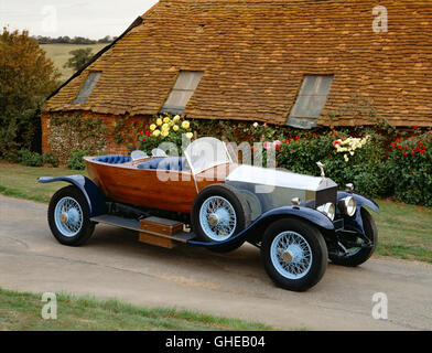 1922 Rolls Royce Silver Ghost tourer skiff type body Country of origin United Kingdom - Stock Image