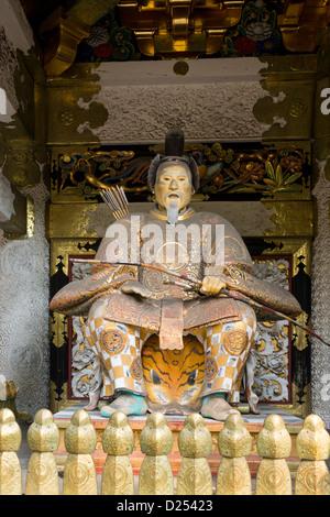 Zuijin guardian statue Yomeimon Gate at Toshogu Shrine Nikko Japan - Stock Image
