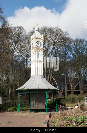 Oakwood clock tower, Oakwood, Leeds, West Yorkshire, England, UK - Stock Image
