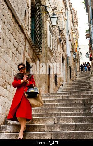 Europe, Croatia, Dubrovnik Neretva shire, Dalmatian coast, Dubrovnik, the old town - Stock Image