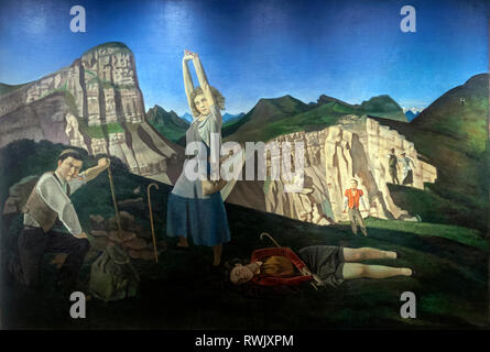 The Mountain,  Balthus, The Metropolitan Museum of Art, Manhattan, New York USA - Stock Image