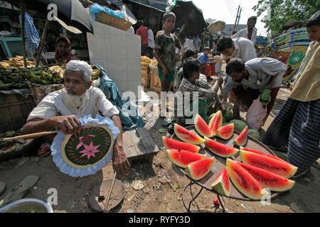 BANGLADESH Market at Haluaghat, Mymensingh region photo by Sean Sprague - Stock Image