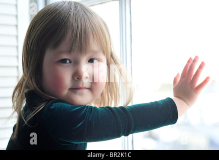 Portrait of a Japanese-English toddler. MODEL RELEASED - Stock Image