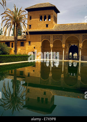 The palace gardens of the Alhambra - Stock Image