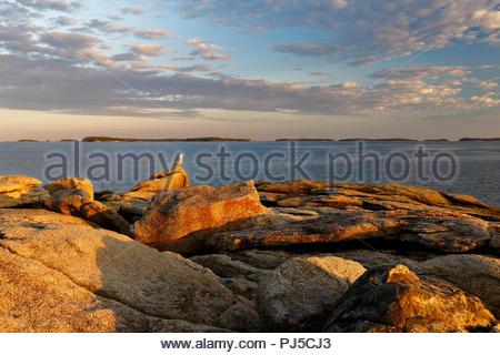 Birch Point Beach State Park, Owls Head, Maine, USA - Stock Image