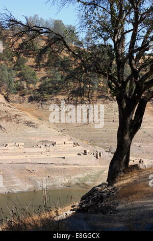 Don Pedro Reservoir, Tuolumne county, California, USA, Tuesday, October 7, 2014 -The Eagle Shawmut Mine is visible - Stock Image