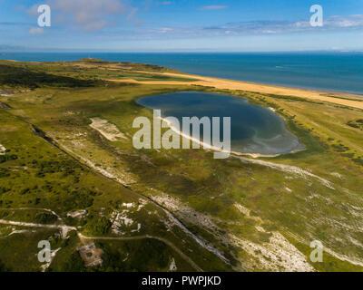 France, Hauts de France, Pas de Calais, aerial pic. Blanc-Nez Cape - Stock Image