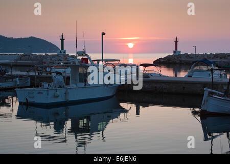 Cala Bona sunrise - Stock Image