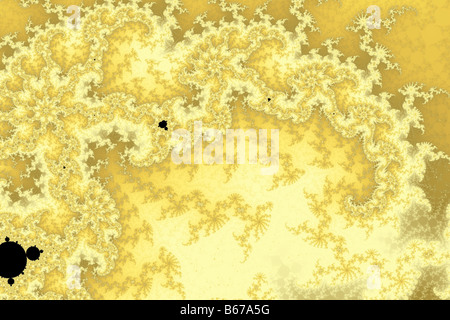 Gold Canopy: A simple gold fractal canopy. One of my 8 images tagged 8diff. The same fractal with different colours. - Stock Image