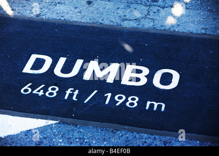 dumbo, brooklyn, sign, New York - Stock Image