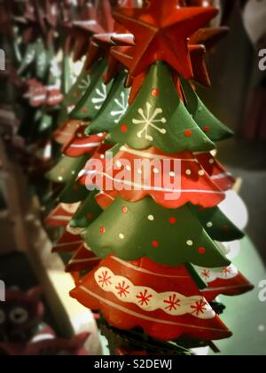 Xmas tree decoration - Stock Image