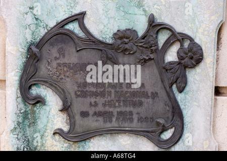 Recoleta Plaque C - Stock Image