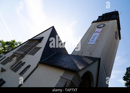 The Lutherkirche in Wiesbaden, Germany. - Stock Image