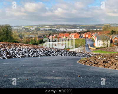 Ashbourne, Derbyshire. 22nd Jan, 2018. UK Weather: sunshine & warm temperatures melt the heavy snow which fell - Stock Image