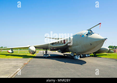 Handley Page Victor K2 tanker cold war nuclear bomber now refuelling tanker on display at the Yorkshire Air Museum Elvington York UK - Stock Image