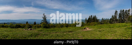 Panoramic View from Andrews Bald in the Smokies - Stock Image