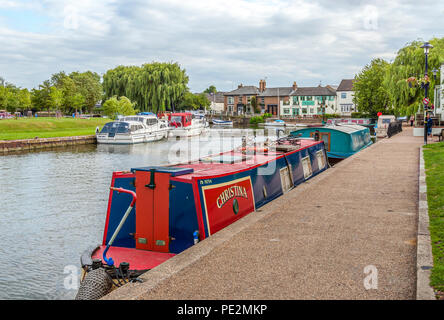 Ely is a cathedral city in Cambridgeshire, England with many historic buildings and winding shopping streets. - Stock Image