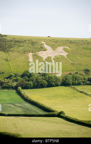 The White Horse of Osmington Hill, Dorset, UK. - Stock Image