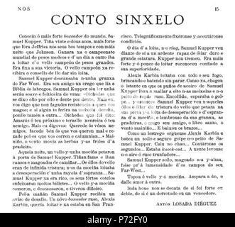 19 Conto sinxelo, publicado no n. 3 da revista Nós o 30-12-1920 - Stock Image