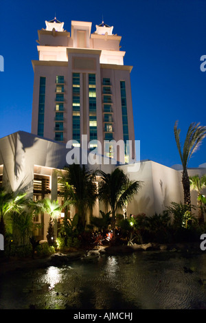 The Cove Atlantis Resort at twilight Paradise Island Nassau Bahamas - Stock Image