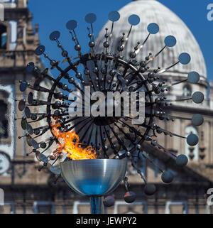 Olympic Flame in Rio de Janeiro - Stock Image