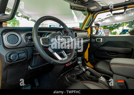 Turin, Piedmont, Italy. 22nd June 2019. Italy Piedmont Turin Valentino park Auto Show 2019 - Jeep interior Credit: Realy Easy Star/Alamy Live News Credit: Realy Easy Star/Alamy Live News - Stock Image