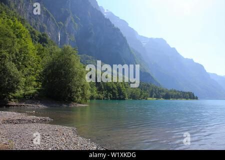 Shore of Lake Kloental. - Stock Image