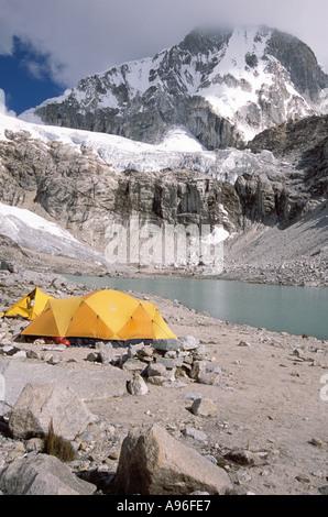 Mount Ranrapalca 6162 m - Stock Image