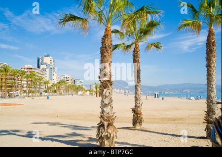 Benidorm, Beach, Costa Blanca, Spain - Stock Image