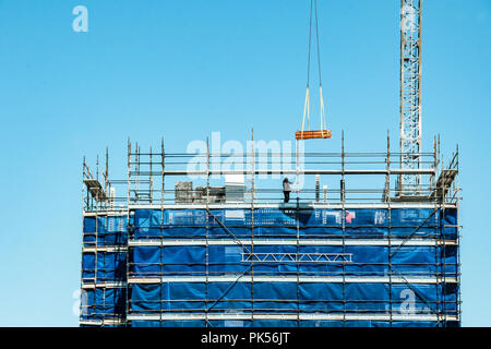 Gosford, New South Wales, Australia - August 29. 2018: Construction and building progress update 118. on new home units building site at 47 Beane St. - Stock Image