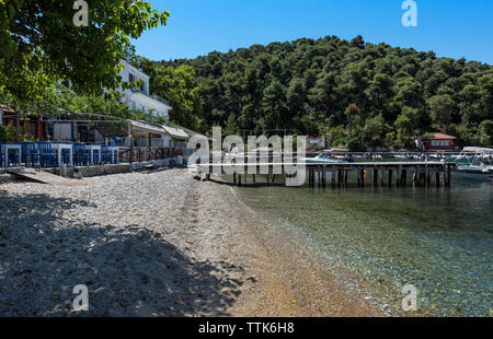 Agnontas Beach, Skopelos, Northern Sporades Greece. - Stock Image