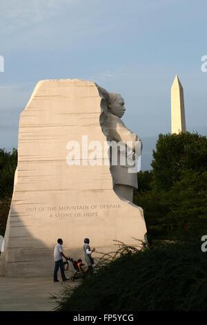 Martin Luther King memorial Washington D.C. - Stock Image
