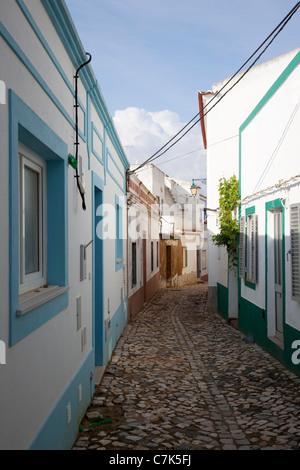 Portugal, Algarve, Ferragudo, Narrow Backstreet - Stock Image