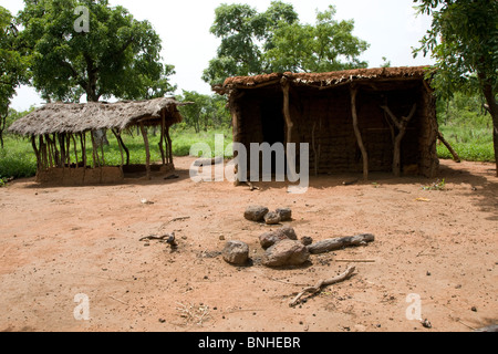 Abandoned homestead in the Gonja triangle, Damango district, Ghana. - Stock Image