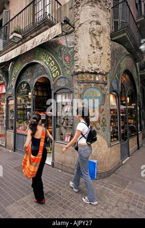 spain Barcelona patisserie at the ramblas - Stock Image