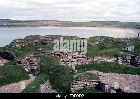 1960s, Scottish highlands, Skara Brae - Stock Image